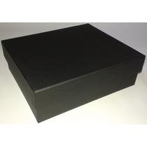 Kit Com 10 Caixas De Presente Em Papelão Na Cor Preta.