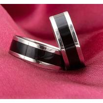 Par De Aliança De Namoro Compromisso Prata Aço Inox 316l