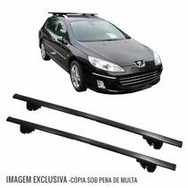 Rack Travessa Peugeot 407 Sw Wagon 04 A 09 Eqmax 6181 Preto