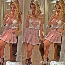 Vestido Pink Round Coleção Outono Inverno