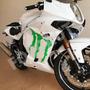 Adesivo Garras Monster Energy Drink Moto Comet Gtr Ninja 250