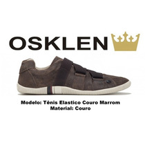 Sapatenis Osklen Tenis Riva Azul Bic Em Couro 100% Original