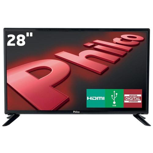 Tv Led 28 - Hd Philco Ph28d27d Integrado Progressive Scan