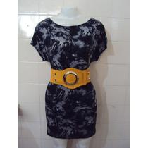 Vestido Estampado De Viscolycra Da Rc5 Tamanho P