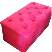 Puff Baú Rosa Pink Solteiro 90cm
