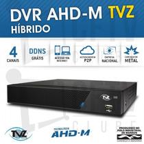 Dvr Stand Alone Tecvoz Tvz 4 Canais Ahd-m Híbrido 3 Em 1