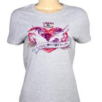 Camiseta Feminina Unicornio Alien Galaxia Tumblr Girl