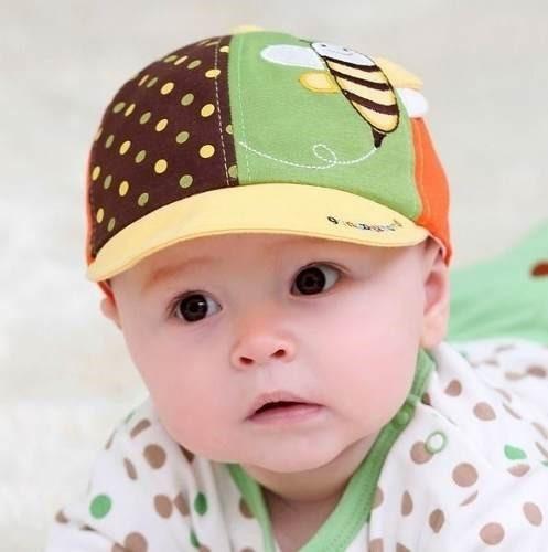 Boné Abelha Infantil Bebê Menino Algodão 4 A 16 Meses