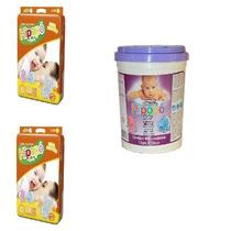 Fralda Hipopó Baby-140 Fraldas Tam. G+400 Lenços Umedecidos