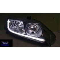 Farol Honda New Civic Barra De Neon Tuning Novo Promoção...