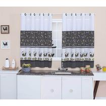 Kit Xuxão Com Porta Travesseiros E Cortina De Cozinha