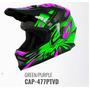 Capacete Infantil Cross Ck-01 Pro Tork Kids + Brinde - Verde
