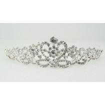 Tiara Coroa Pente Princesa Noivas Festa Strass Debutantes