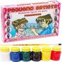 Molde Figura Gesso Brinquedo + Guache + Pincel - Porquinhos
