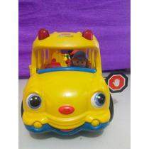 Brinquedo Antigo Ônibus Escolar Fisher Price Com Sons E Luz