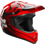Capacete Fox Trilha Enduro Moto Cross Vermelho Tamanho 61