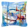 Elevando-q Veleiros Lona Tecido Decorativa Pillow Jmk1230pw1