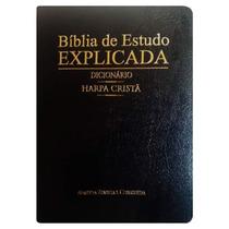 Bíblia De Estudo Explicada Com Dicionário Harpa Cristã