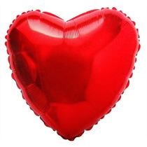 Balão Metalizado Coração Vermelho C/45cm