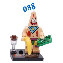 Boneco Bob Esponja (37) Patrick - Blocos Montar