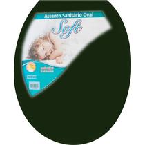 Assento Sanitário Oval Plástico Verde 5 Astra P/ Vasos Ovais