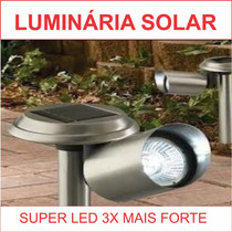 Kit C/ 6 Luminarias Solar Led Jardim Refletor Sensor Lustres