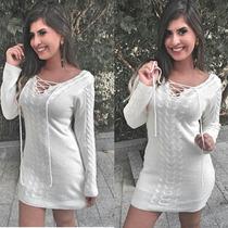 Lindo Vestido De Malha Coleção Outono-inverno