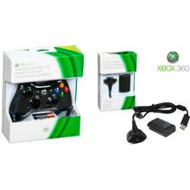 Xbox360 Controle Wireless Mais Bateria E Carregador