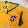 Camiseta Brasil Oficial Original Cbf Amarela Meltex