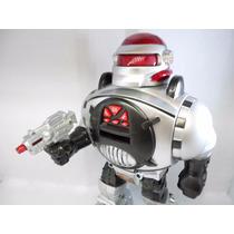 Incrivel Robo Que Fala,anda,lança Discos C/ Controle