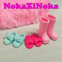 Kit Com 3 Pares De Sapatos Para Boneca Chelsea ( Barbie )