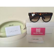 Óculos Oversized Céline Shadow Tart/azul Com Kit Certificado