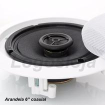Caixa Acústica De Teto Musica Som Ambiente Arandela Embutir