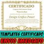Diploma E Certificado Templates Editáveis. Frete Grátis!