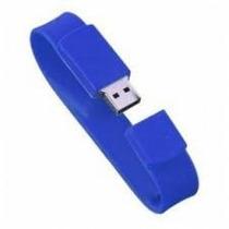 Pen Drive Pulseira 4gb (azul, Preta E Branca) (10 Peças)