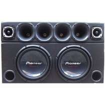 Caixa 2 Sub Pioneer W310 + Corneteira + Taramps T800 + Ts400
