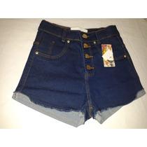 Short Jeans Cintura Alta, Moda Estilo Panicat, Super Oferta,