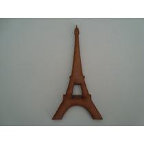 Artesanato Em Mdf De 6mm Silueta Torre Eiffel C/1 Mt Altura