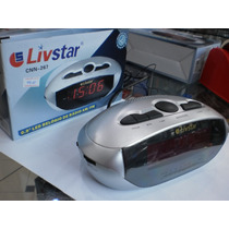 Radio Relogio 0.9 Led Am/fm Livstar Cnn267