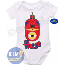 Body Bebê - Infantil - Minions - Super-heróis - Homem-aranha
