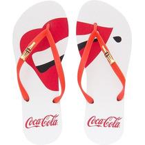 Sandalia Coca Cola 100 Anos Smiles - Chinelo Cc2115