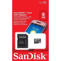 Cartao De Memoria 8g San Disk Com Adptador