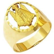 Anel Nossa Senhora Aparecida Vazado Em Ouro 18k Daf-35 S/r 6