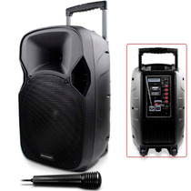 Caixa Som Amplificada 150w Microfone Sd/usb Sp200 Multilaser