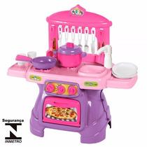 Cozinha Infantil Mini Chef Rosa Com Água Calesita 317