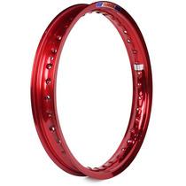 Aro Moto Alumínio 18 X 2.15 Colorido Ybr 2000/2015 Vermelho