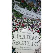 Kit Jardim Secreto E Floresta Encantada - Livros De Colorir