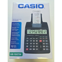 Calculadora Impresora Casio Hr-100tm 12 Digitos