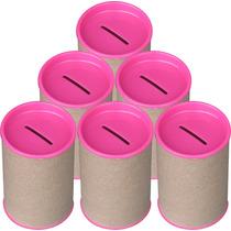 100 Cofrinhos Para Personalizar - Tampa Pink - Frete Grátis