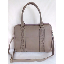 Bolsa Pasta Executiva Feminina Bag Couro Notebook - Linda